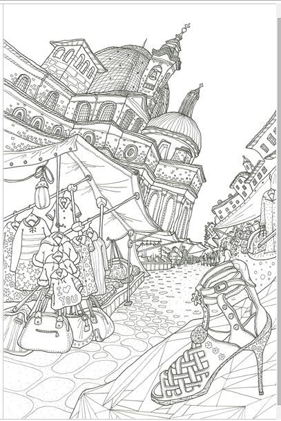 407x609 A Bella Italia Made In Koreatop Qualitycoloring Book For Children