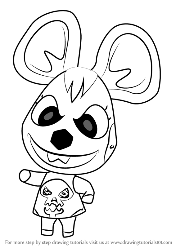 567x800 Learn How To Draw Bella From Animal Crossing (Animal Crossing