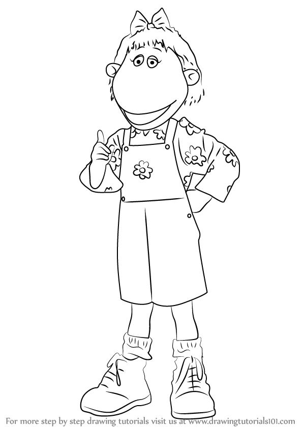 598x844 Learn How To Draw Bella From Tweenies (Tweenies) Step By Step