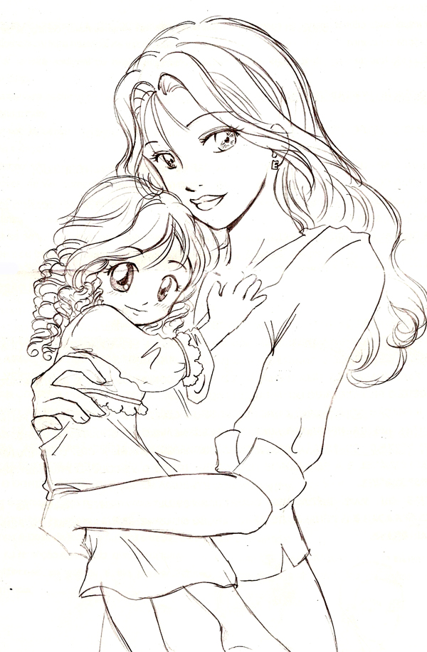 600x917 Renesmee And Bella By Bpanetobernardi