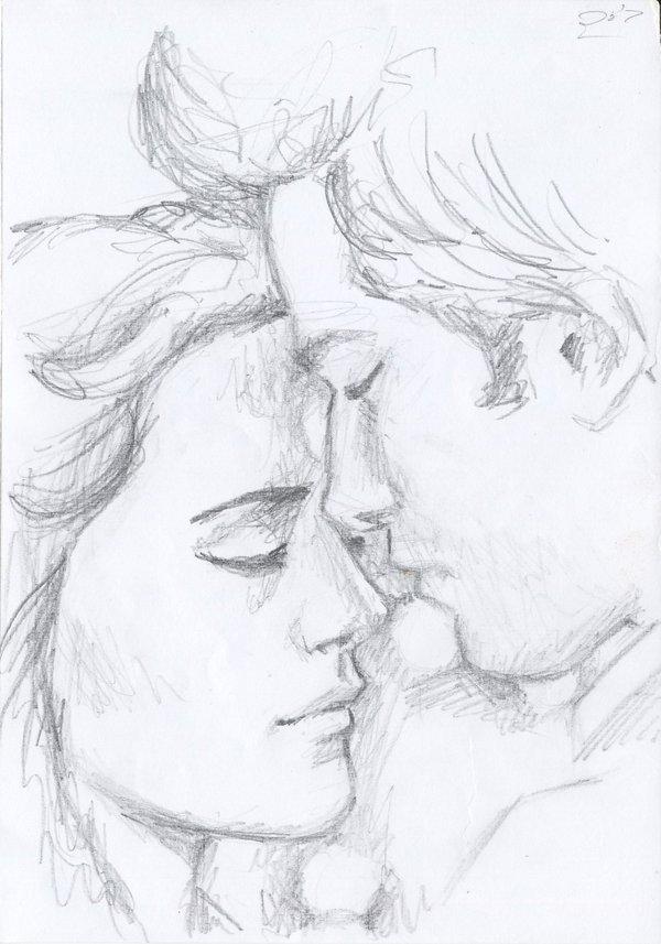 600x857 Bella And Edward Prom Sketch By Miriamartist