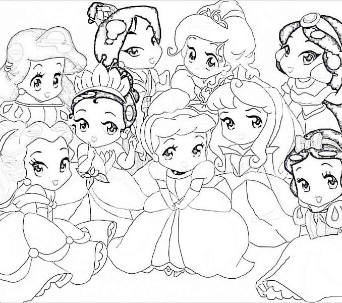 678x600 Disney Princess Drawing Pages Coloring Page