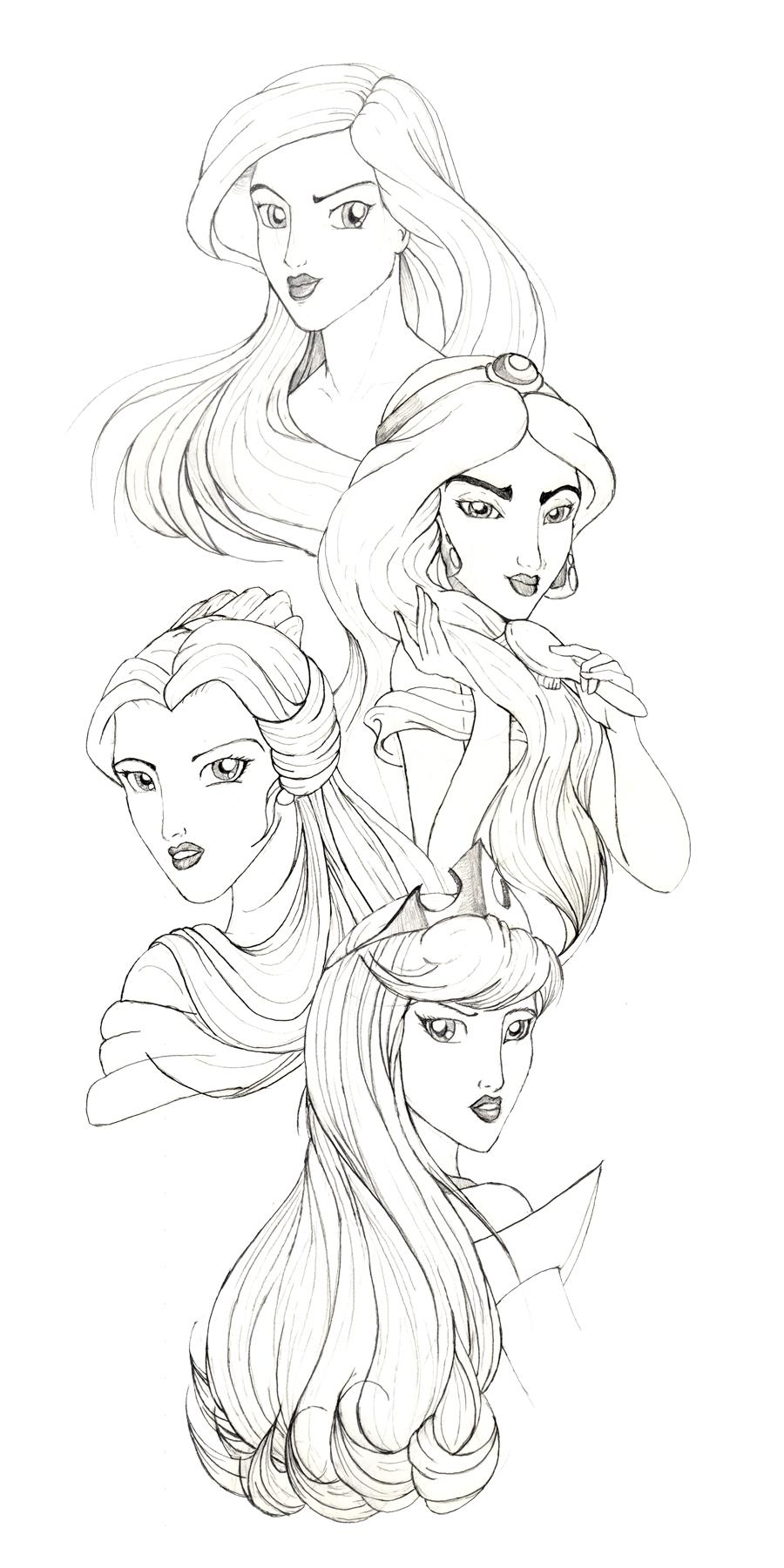 900x1800 Disney Princesses By Racookie3