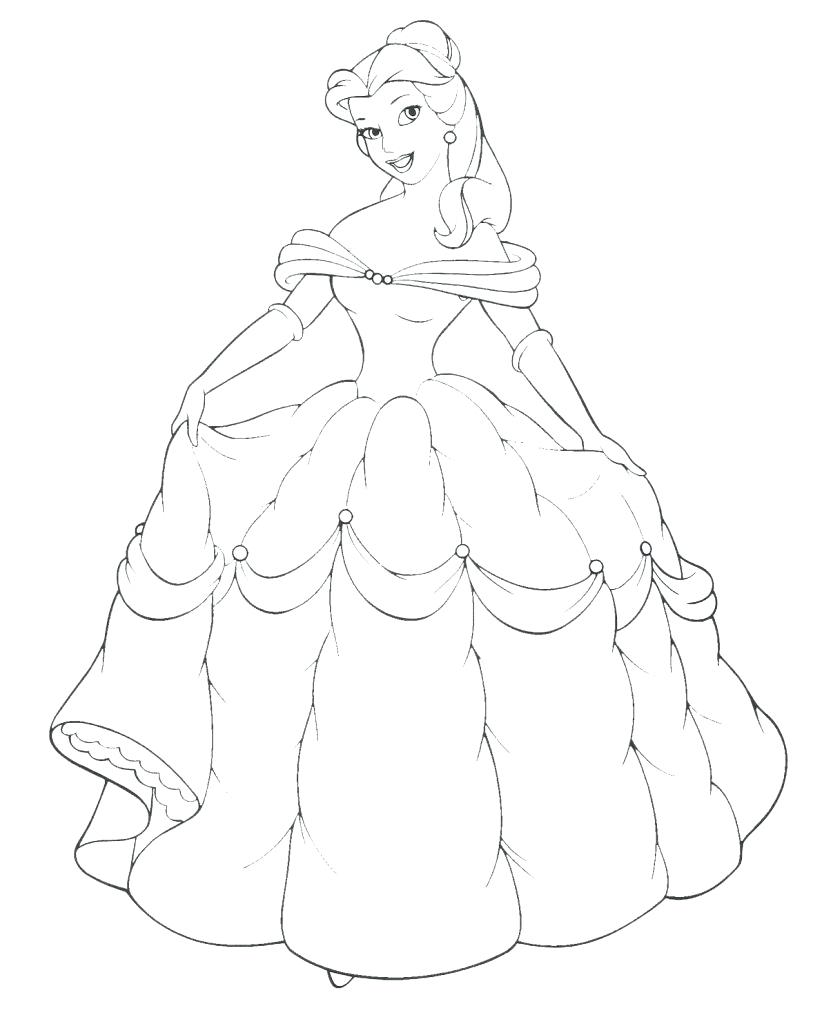 813x1024 Download Princess Coloring Pages 38 Breathtaking Belle Disney
