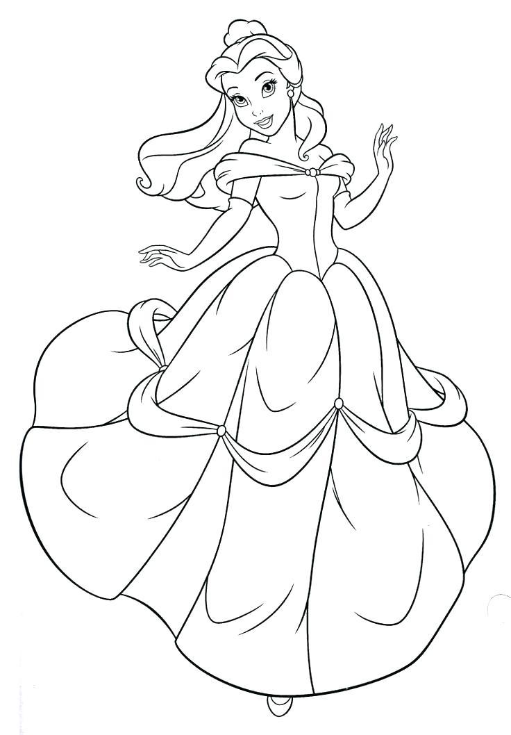 736x1058 Coloring Pages Belle Princess Coloring Page Princess Belle
