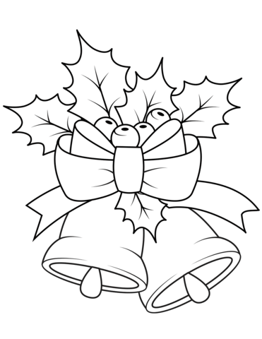 371x480 Christmas Bells Coloring Page Free Printable Coloring Pages