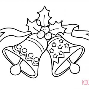 300x300 Coloring Pages For Christmas Bells Fresh Christmas Bell Coloring