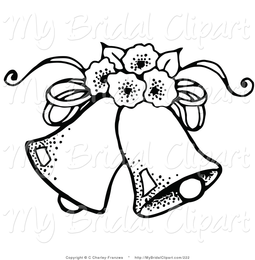 1024x1044 Bridal Clipart Of A Coloring Page Of Two Wedding Bells