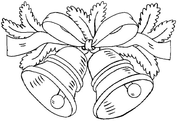 600x410 Christmas Bells Coloring Page Free Download