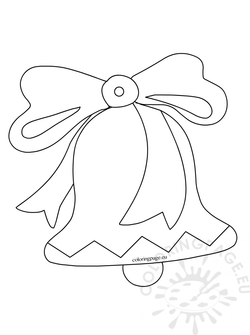 827x1107 Christmas Bells Outline Coloring Page