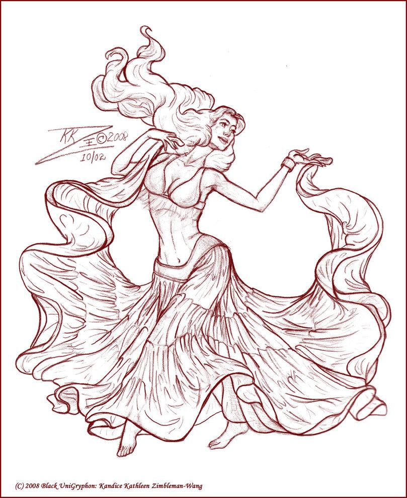 809x988 Belly Dancer Drawings Gypsy Skirt Belly Dancer Sketc By