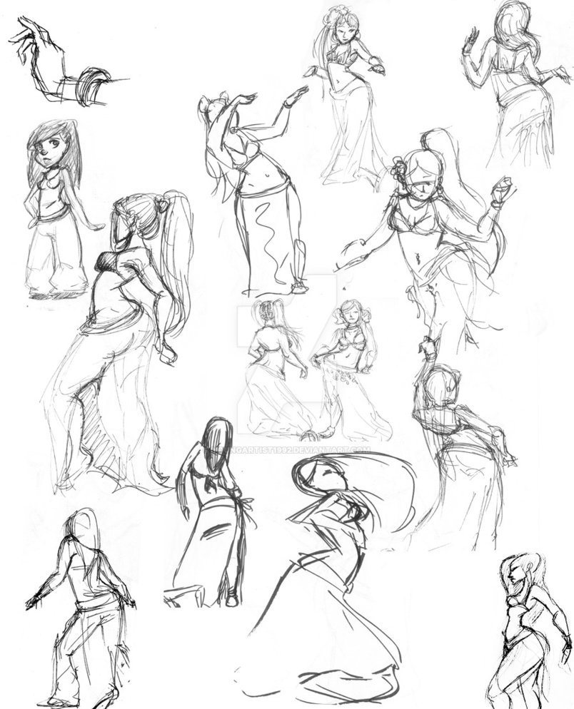 804x994 Belly Dancer Sketches By Youngartist1992