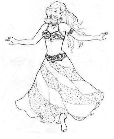 368x450 Belly Dance Pattern