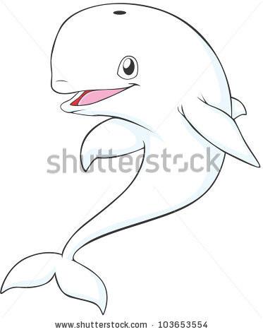 373x470 Beluga Whale Cartoon