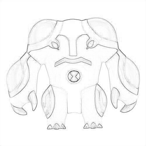 500x500 Ben 10 Ultimate Alien Images Drawing Of Cannonbolt Wallpaper
