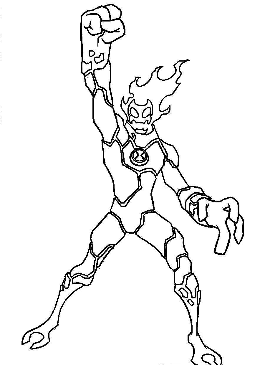 900x1239 Cartoon Network Ben 10 Alien Force Coloring Pages