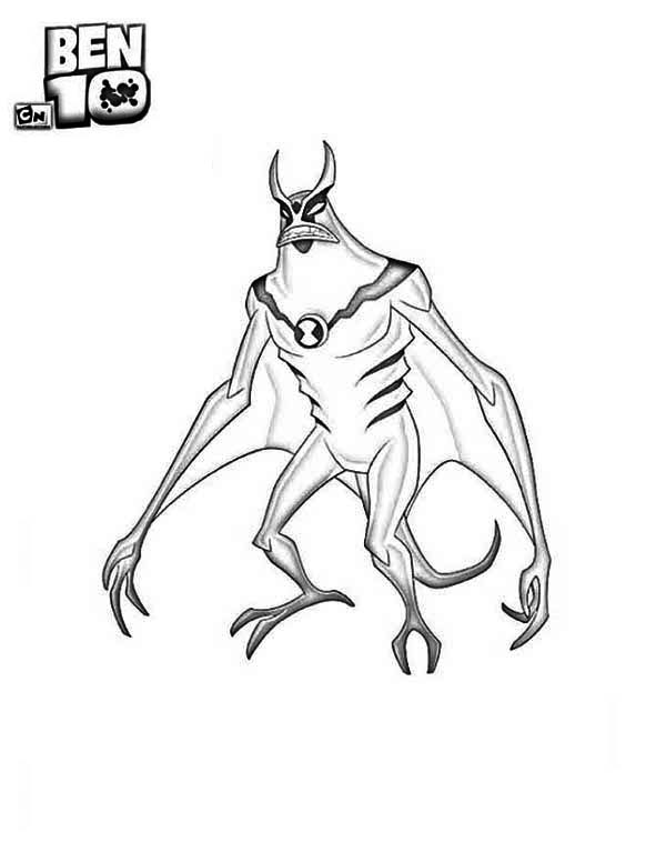 600x776 Jetray From Ben 10 Alien Force Coloring Page