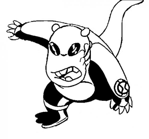 595x555 Upchuck From Ben10 Alien Force Cartoon Network Coloring Pages