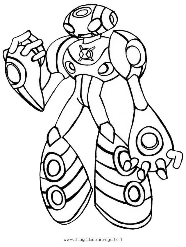 640x850 Ben 10 Alien Force Coloring Pages