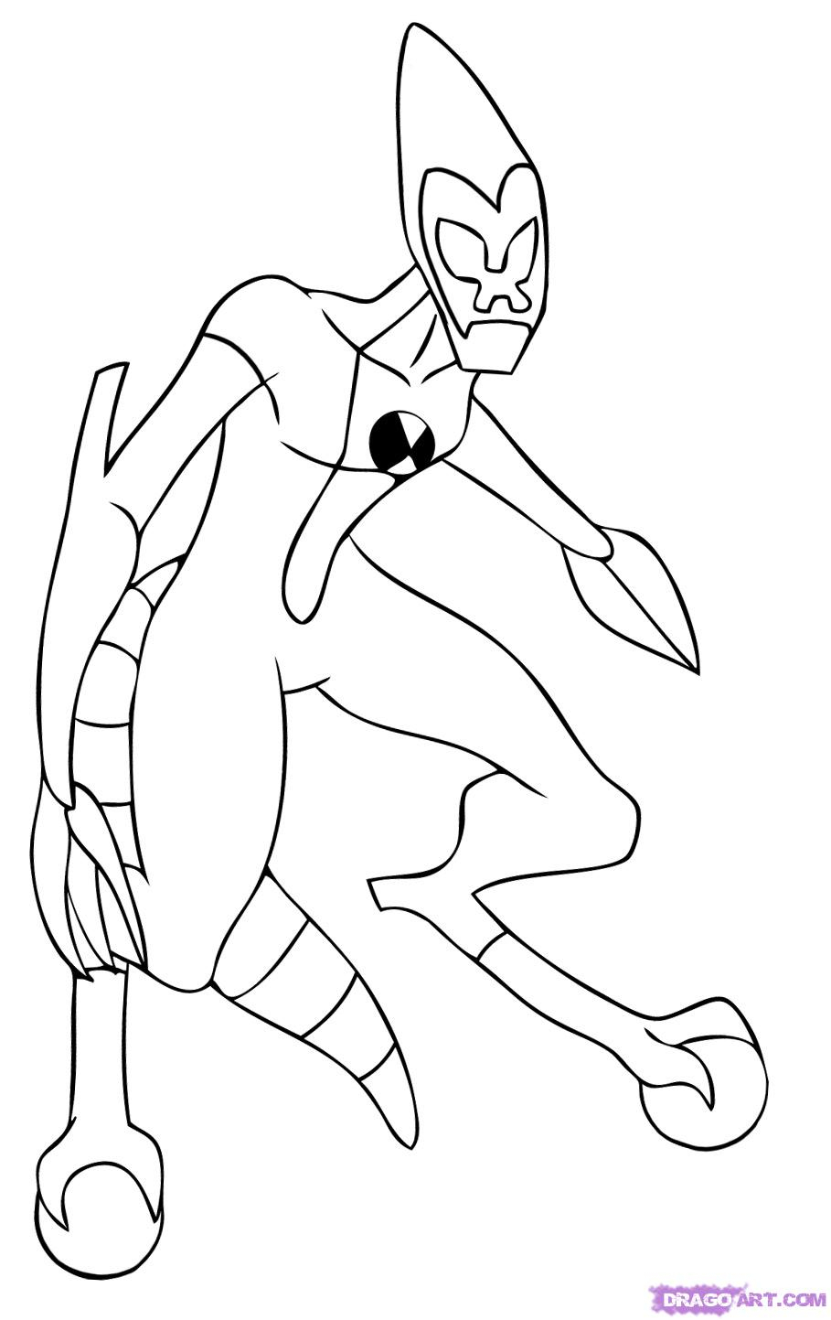 909x1443 Ben 10 Pictures For Drawing Ben 10 Way Big Coloring Page Free