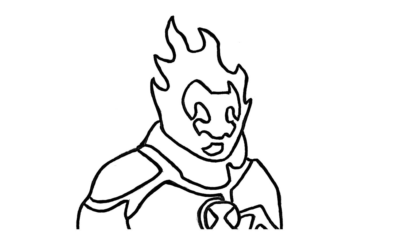 1500x886 How To Draw Heatblast From Ben 10 Omniverse