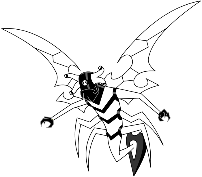 700x615 How To Draw Stinkfly From Ben 10 With Easy Step By Drawing