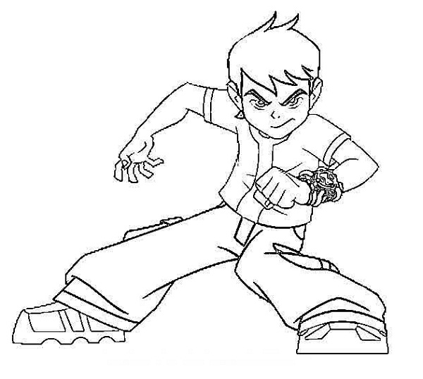 600x538 Coloring Pages Ben 10 Drawing Coloring Kids Ben 10