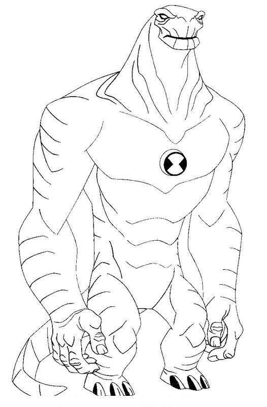 526x800 Ben 10 Alien Force Coloring Pages Color Udin