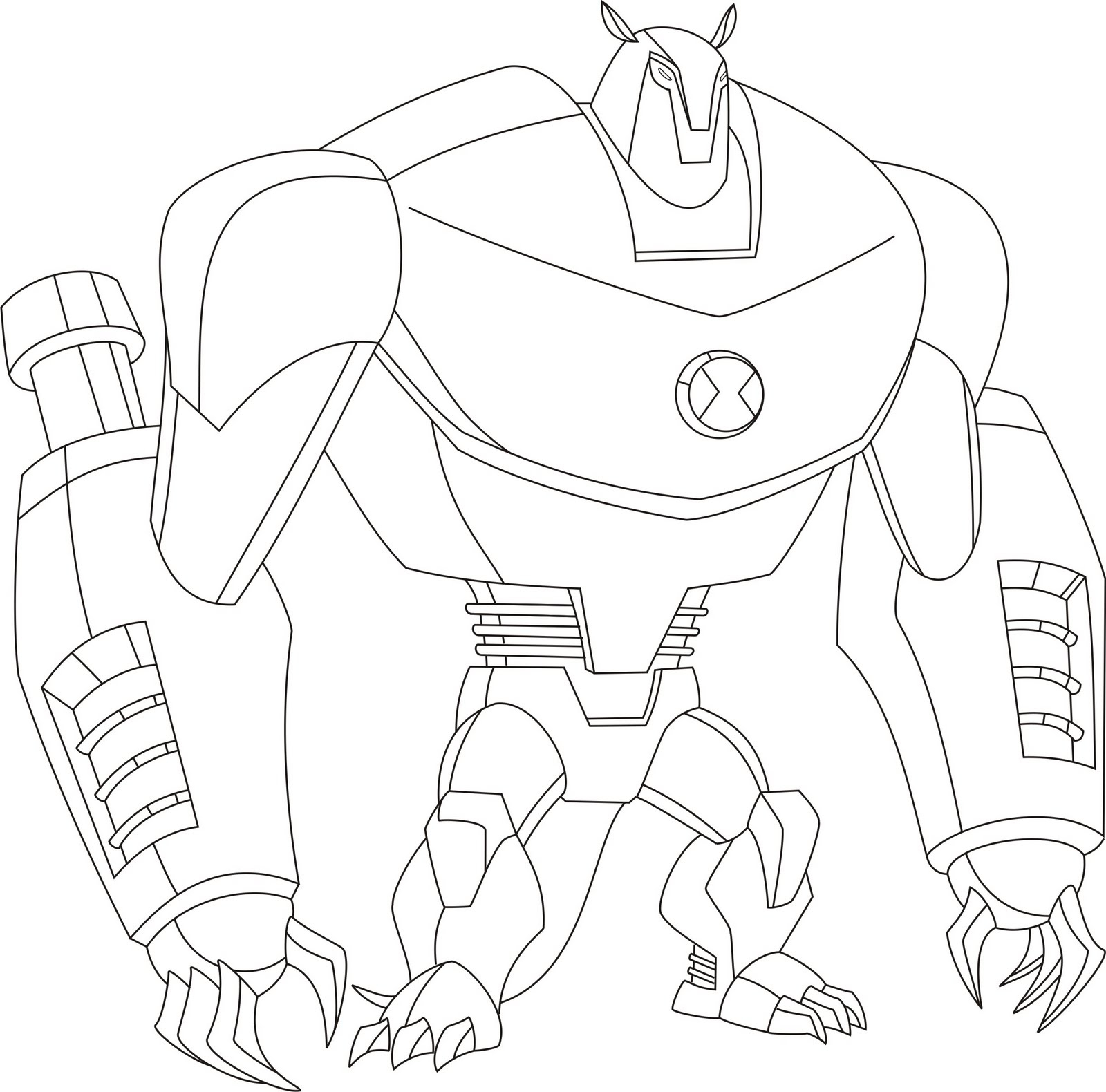 1600x1580 Ben 10 Drawing Book Free Coloring Page For Kids