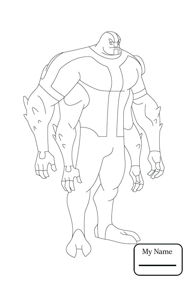 612x918 Ben 10 Coloring Pages And Cartoons Alien Force For