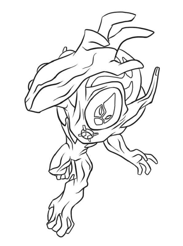 600x806 ben 10 ultimate coloring pages alien force coloring kids