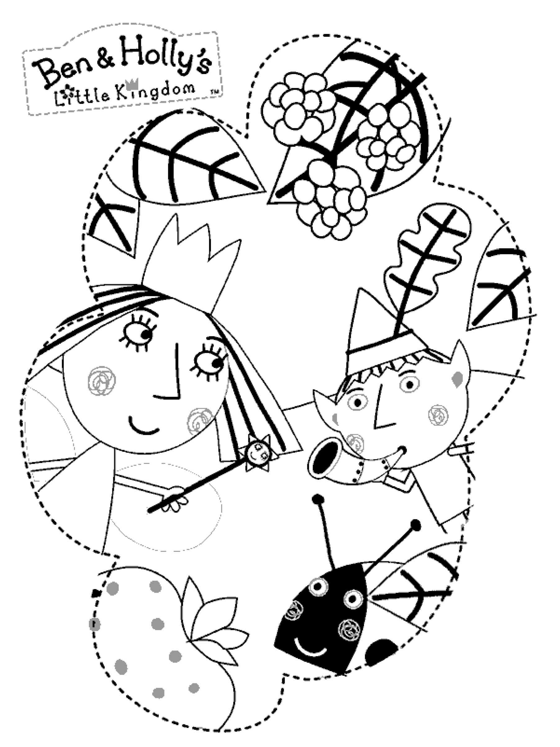 1804x2405 Ben Holly Printable Coloring Pages, Free Printable Ben