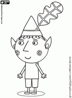 236x319 Print Off This Ben Colouring In Picture From Ben Amp Holly's Little