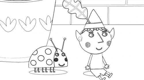 500x280 Ben And Holly Coloring Book Ben And Holly's Little Kingdom