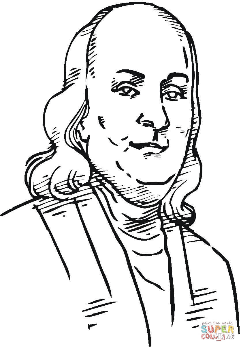 836x1200 Benjamin Franklin Coloring Page Free Printable Coloring Pages