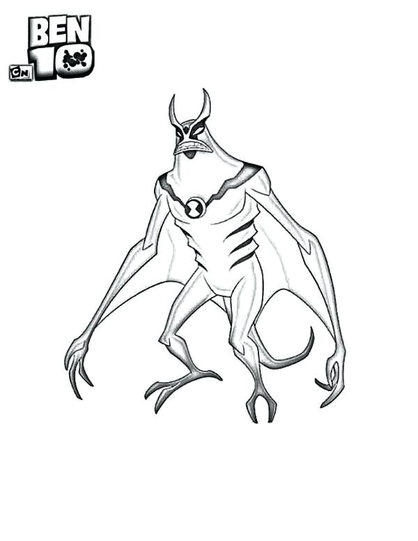 600x776 Ben10 Coloring Pages From Alien Force Page Ben 10