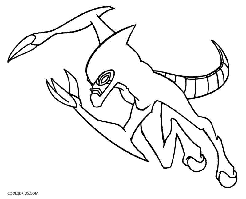 800x649 Printable Ben Ten Coloring Pages For Kids Cool2bKids