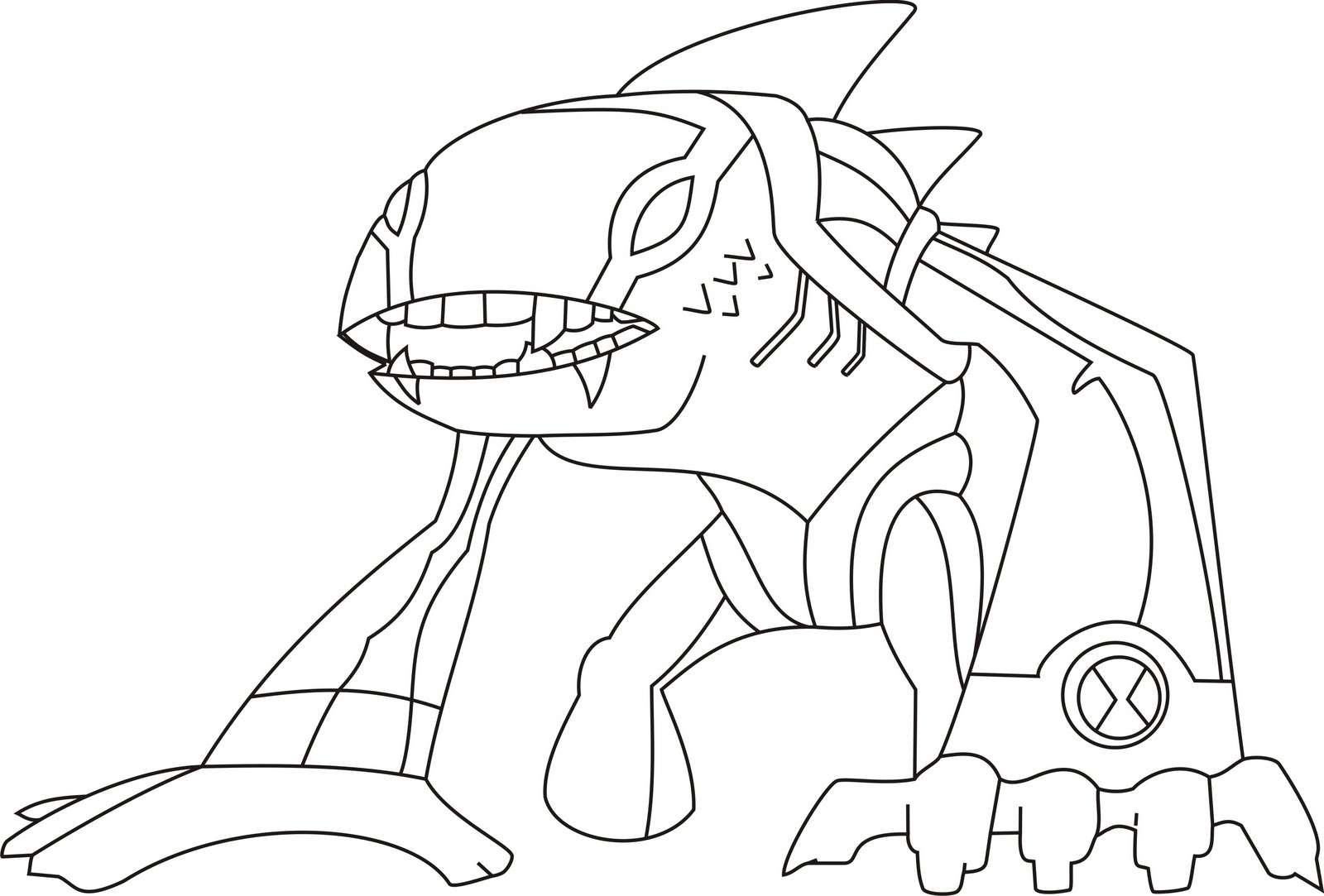 1600x1083 Ben 10 Coloring Pages