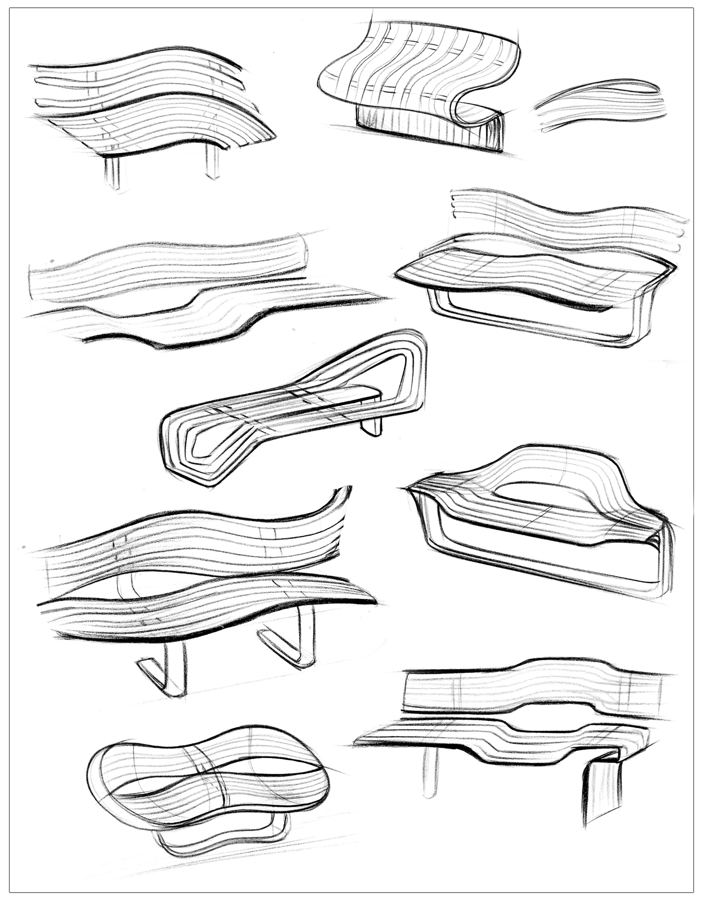 1417x1833 Image Result For Bench Design Sketches Inspiratie