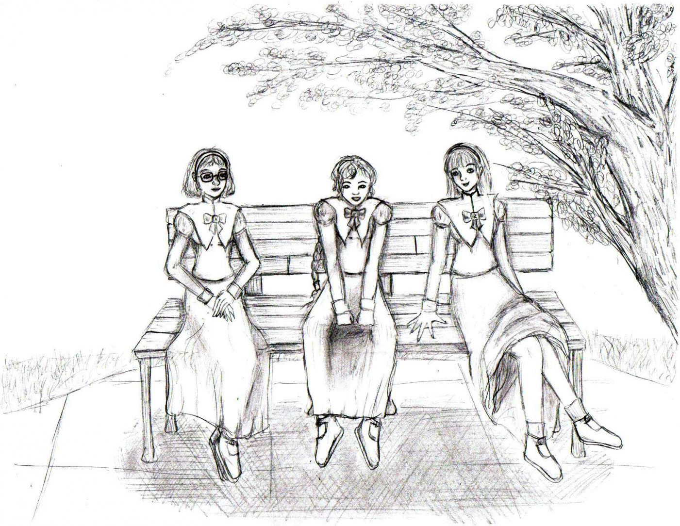 1401x1084 Park Bench B w Version Breadstick Memories On For Park