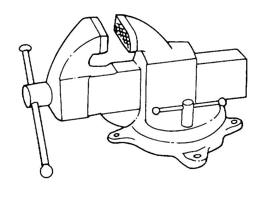 936x703 Bench Vise Drawing