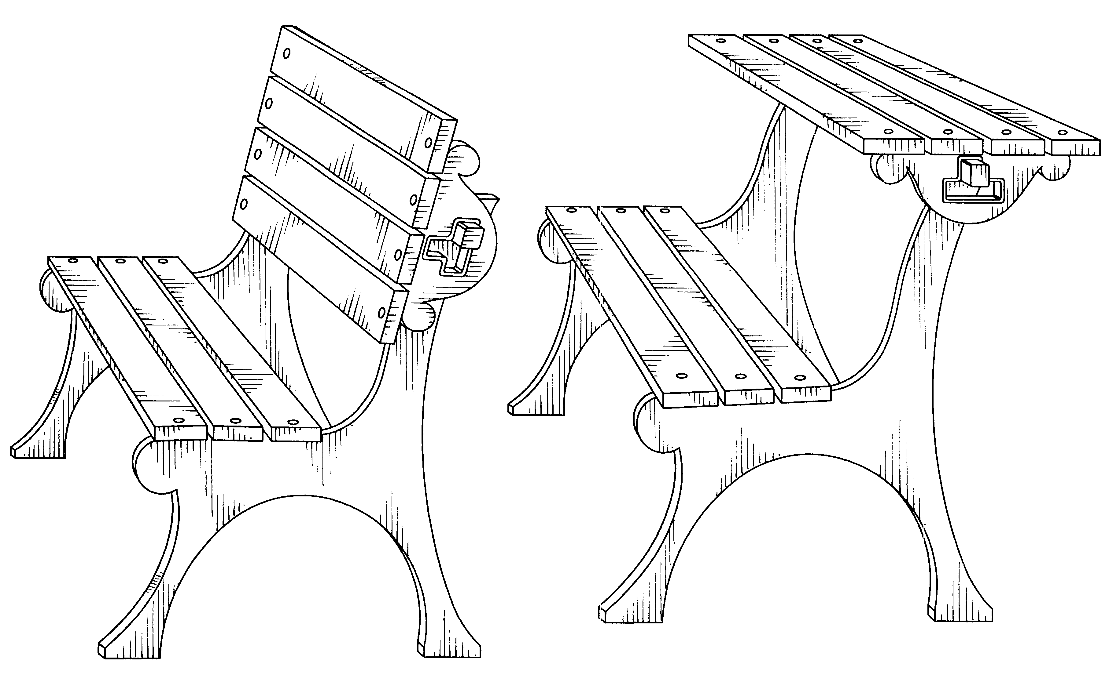 3628x2234 Cool Park Bench Drawing In Patent Usd Convertible Park Bench