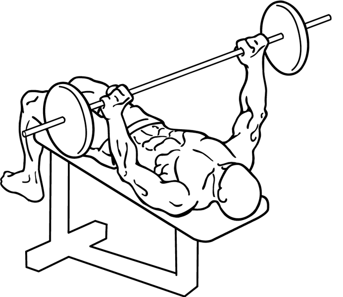 693x600 Decline Bench Press How To Work Your Lower Chest Pop Workouts