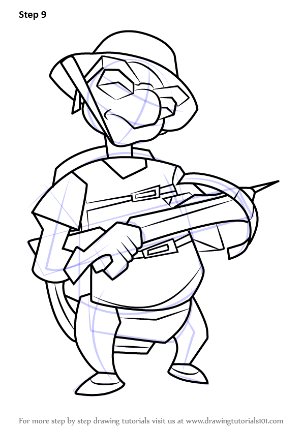 596x842 Learn How To Draw Bentley From Sly Cooper (Sly Cooper) Step By