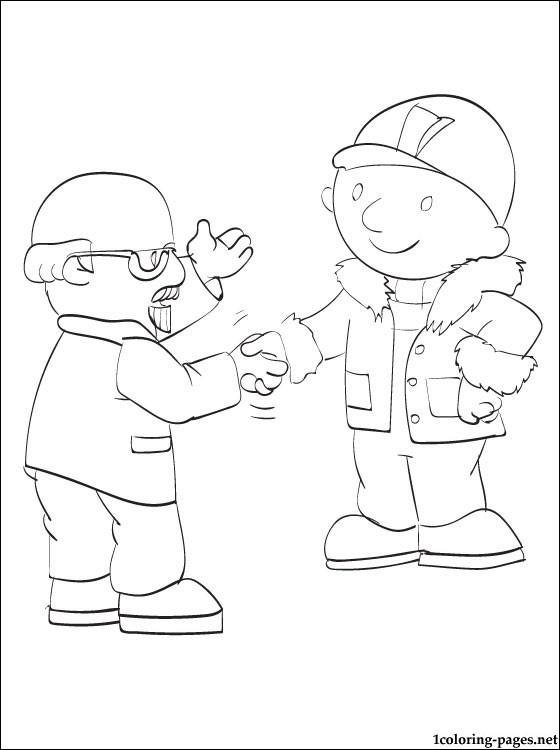 560x750 Mr. Bernard Bentley And Bob The Builder Coloring Pages