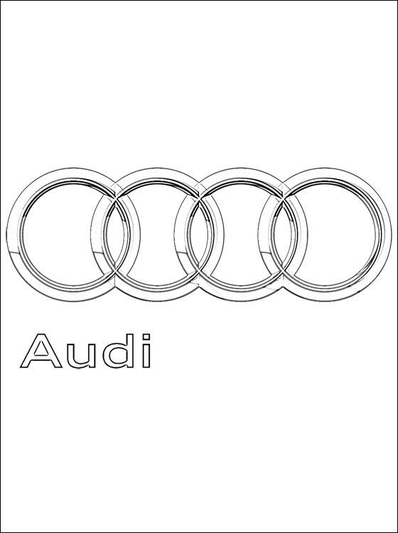 560x750 Coloring Pages Audi