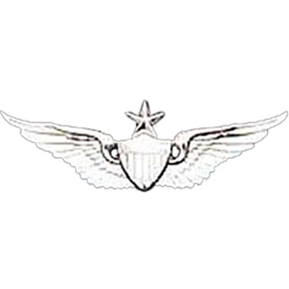 1134x1134 Army Badge, Regular Mirror Finish, Senior Aviator Badges, Mirror