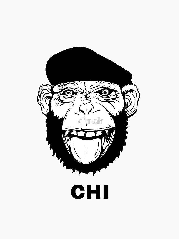 750x1000 Hand Drawn Smiling Monkey With Beret For T Shirt Or Other Use
