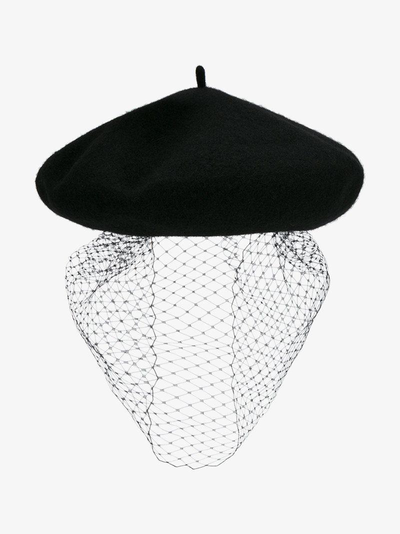 800x1067 Silver Spoon Attire Mesh Veil Beret Hats Browns