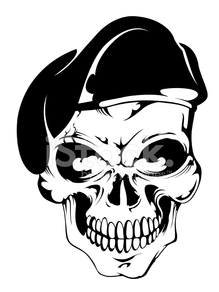768x1024 Skull With Beret Stock Photos